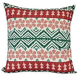 E by Design Fair Isle Square Throw Pillow
