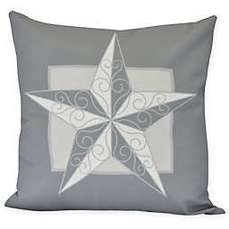 E by Design Night Star Square Throw Pillow