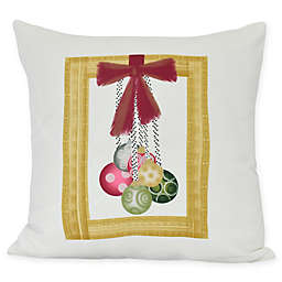 E by Design Frame It Up Square Throw Pillow in Yellow