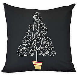 E by Design Filigree Tree Square Throw Pillow