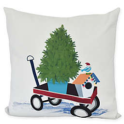 E by Design! Take Me Home Square Throw Pillow in Grey