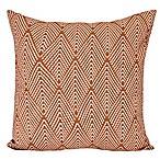 E by Design Lifeflor Square Throw Pillow in Orange