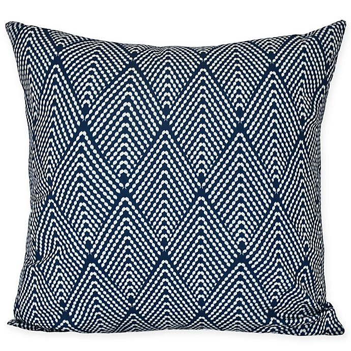 Alternate image 1 for E by Design Lifeflor Square Throw Pillow in Navy Blue