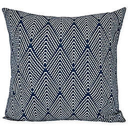 E by Design Lifeflor Square Throw Pillow in Navy Blue