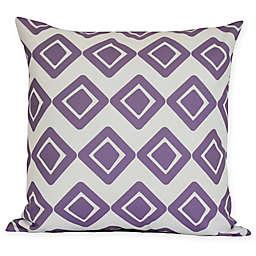 E by Design Diamond Jive 1 Squre Pillow in Purple