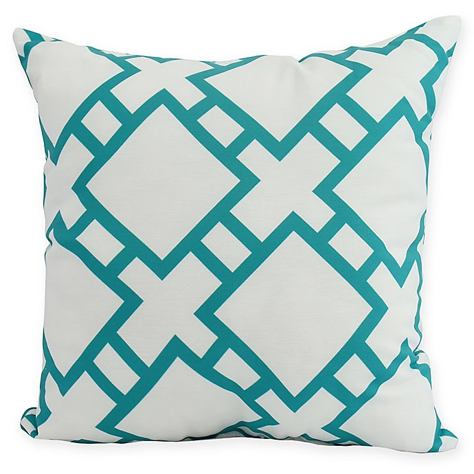 Alternate image 1 for E by Design Square in St. Louis Square Pillow in Blue