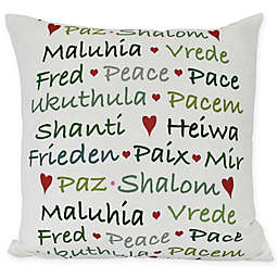 Words of Peace Square Throw Pillow