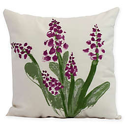 E by Design Bluebell Square Pillow in Purple