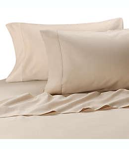 MicroTouch Set de sábanas queen de satén en marfil