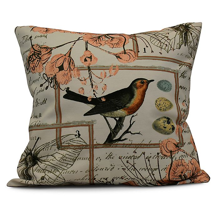 Alternate image 1 for Sweet Tweets Square Throw Pillow