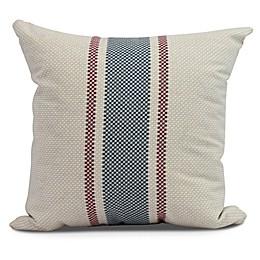 Grain Sack Stripe Square Throw Pillow