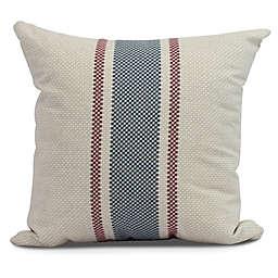 Grain Sack Stripe Square Throw Pillow in Rust