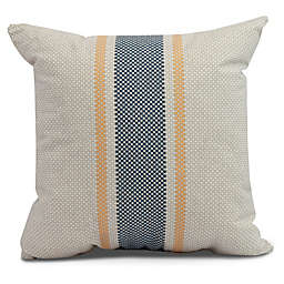 Grain Sack Stripe Square Throw Pillow in Yellow