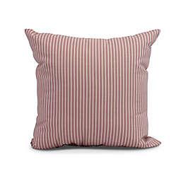 Ticking Stripe Square Throw Pillow in Purple