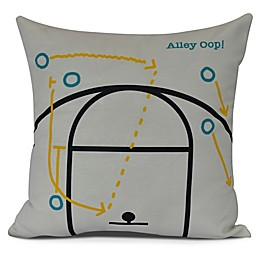 E by Design! Alley Oop Square Throw Pillow