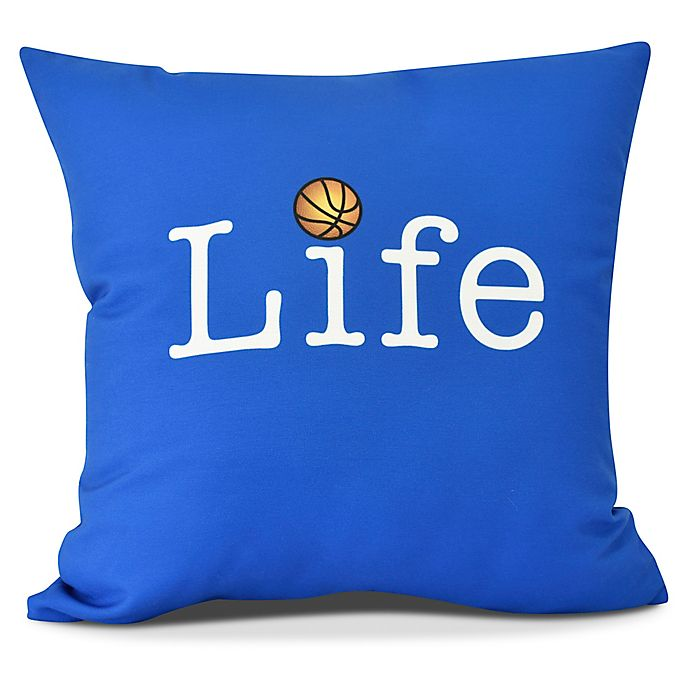Alternate image 1 for Life + Ball Throw Pillow in Royal Blue