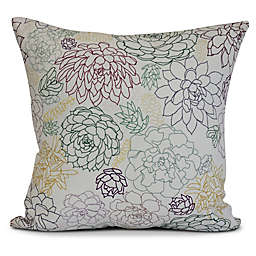 Opal Square Throw Pillow in Purple