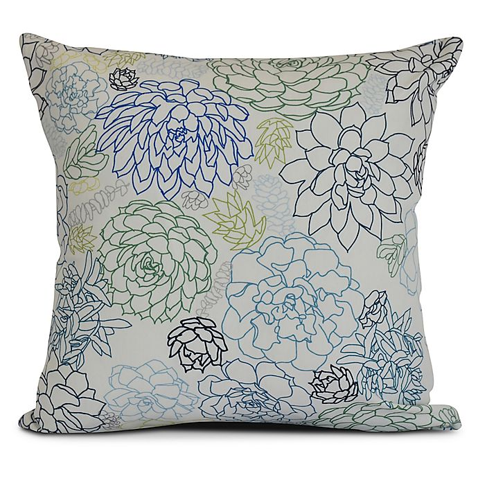 Alternate image 1 for Opal Square Throw Pillow in Navy