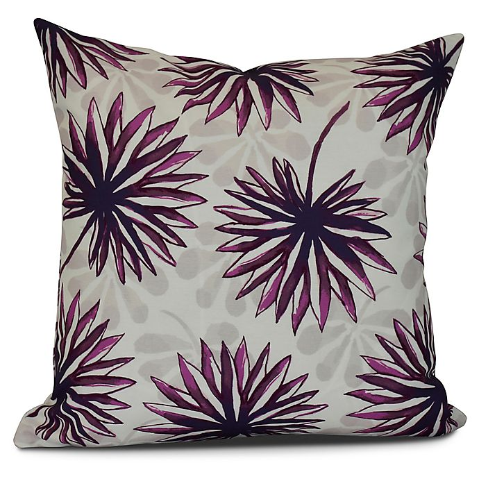 dbe5f09c25 Spike And Stamp Floral Square Throw Pillow in Purple | Bed Bath & Beyond