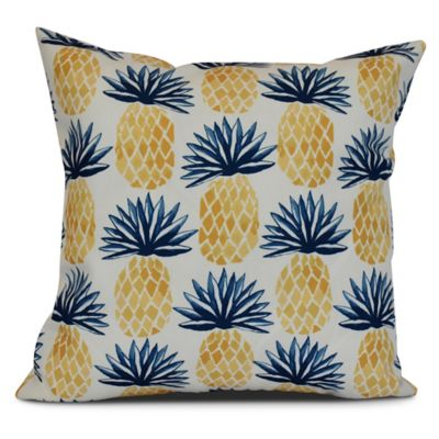 Blue throw pillow cover 20x20 pineapple