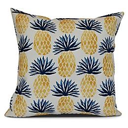 Pineapple Stripes Sqaure Throw Pillow