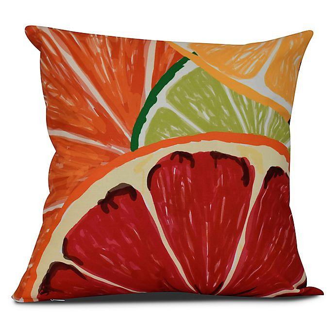 Alternate image 1 for Lemonade Tropical Square Throw Pillow in Orange