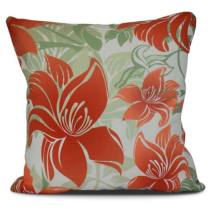 Alternate image 1 for Tree Mallow Floral Square Throw Pillow in Orange
