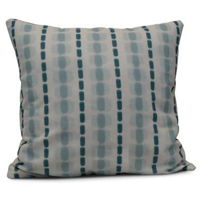 Gray Stripe Square Throw Pillow