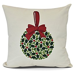Mistletoe Square Throw Pillow