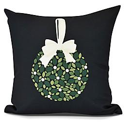 Mistletoe Square Throw Pillow