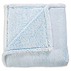 De Moocci® Frosted Fluffy Throw Blanket in Baby Blue