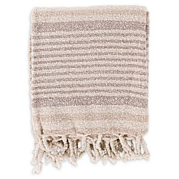 Surya Treasure Throw Blanket in Ivory/Taupe