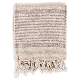Surya Treasure Throw Blanket in Ivory/Taupe