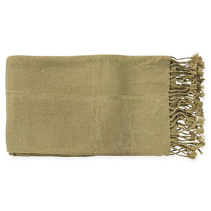 Alternate image 1 for Surya Turner Throw Blanket in Moss