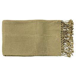 Surya Turner Throw Blanket in Moss