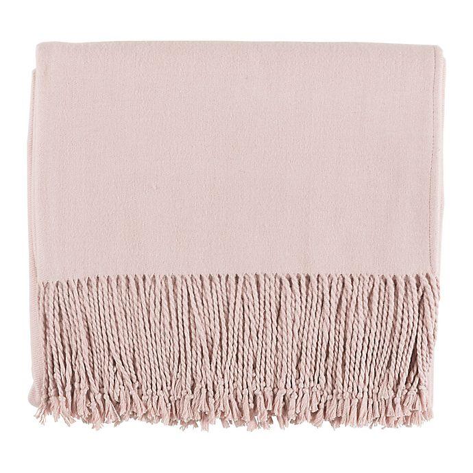 Alternate image 1 for Surya Chantel Throw Blanket in Blush