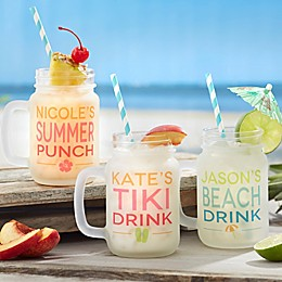 Summer Fun Frosted Personalized Mason Jar