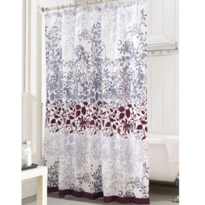 Enchanted Purple 72 Inch X Shower Curtain