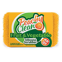 Peachy Clean Fruit & Vegetable Scrubber in Yellow