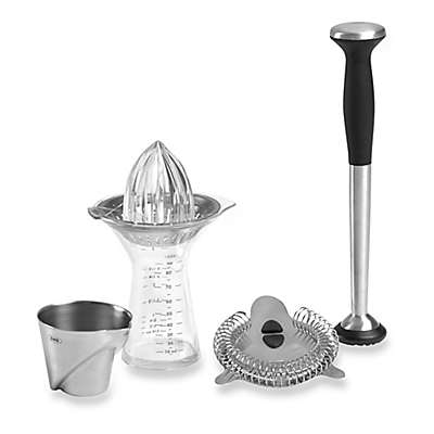 OXO Good Grips® 4-Piece Barware Accessories Set in Silver
