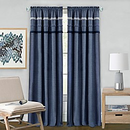Achim Blue Jean Rod Pocket Window Curtain Panel in Blue