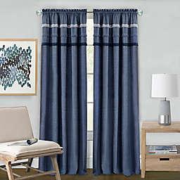 Achim Blue Jean Rod Pocket Window Curtain Panel in Blue