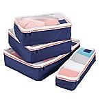 InterDesign® Packing Cubes in Navy (Set of 4)
