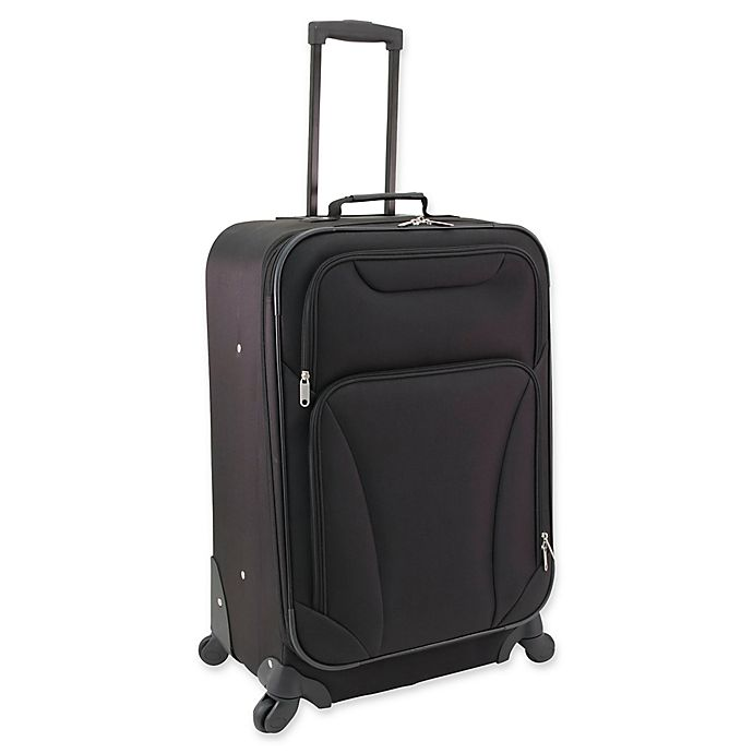 Alternate image 1 for Mercury Luggage 24-Inch Spinner Checked Luggage in Black