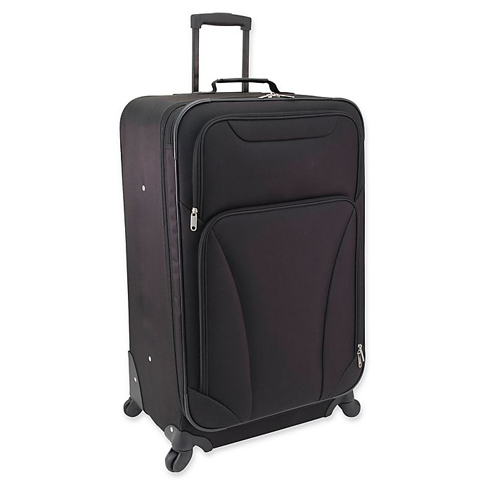 Alternate image 1 for Mercury Luggage 28-Inch Spinner Checked Luggage in Black
