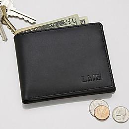 Regent Leather Bi-Fold Wallet in Black