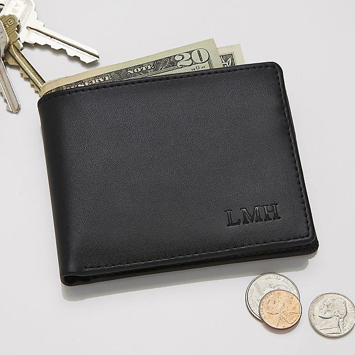 Alternate image 1 for Regent Leather Bi-Fold Wallet in Black