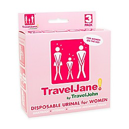 TravelJane Disposable Urinals for Women (Set of 3)