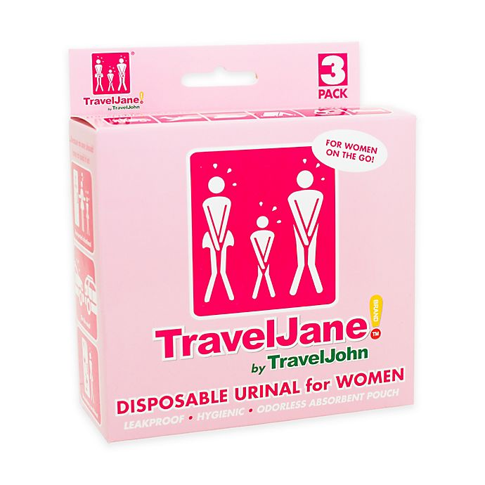 Alternate image 1 for TravelJane Disposable Urinals for Women (Set of 3)