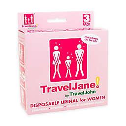 TravelJane Disposable Urinals for Women (Set of 3)